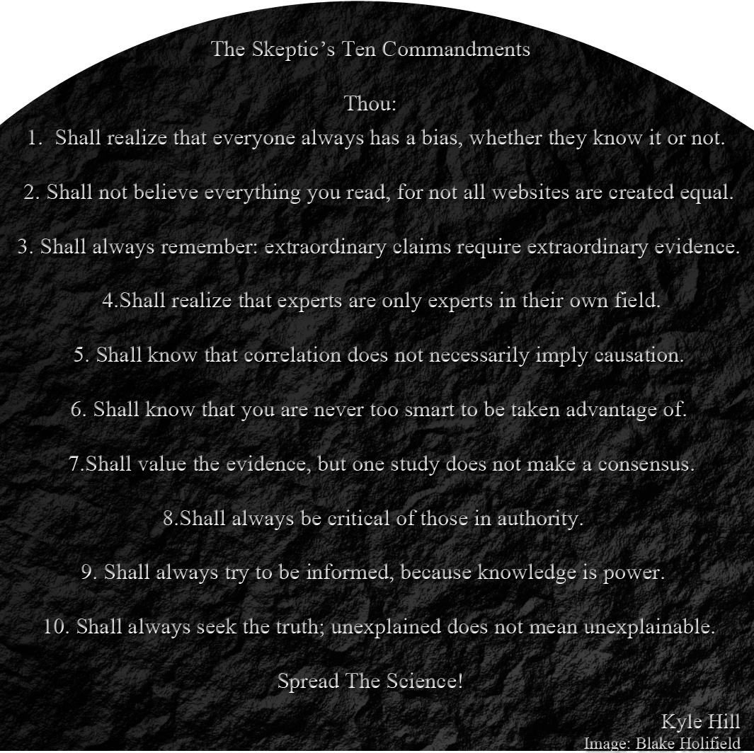 the skeptic's ten commandments | science-based life